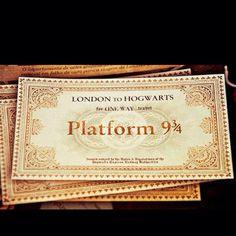 .Hogwarts Express Ticket