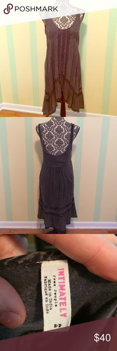 Free people Parisian slip Lace is in excellent condition no flaws. Charcoal color. Free People Dresses Midi