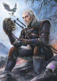 Geralt Witcher 3, Blondynki Też Grają on ArtStation at https://www.artstation.com/artwork/yxDa5