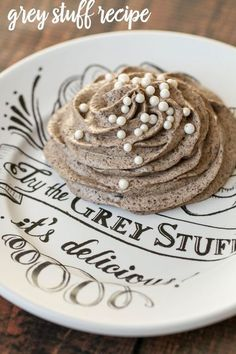 "Disney World's ""Grey Stuff"" recipe!! It's so easy to make and so delicious. Tastes just like the recipe from the Be Our Guest restaurant. { http://lilluna.com }"