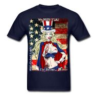 T-Shirts ~ Men's T-Shirt ~ Zombie Patriot Samantha: CloseUp Background Horror Music, Cool Designs, Angels, Mens Tops, T Shirt, How To Wear, Clothes, Tee, Clothing