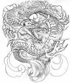 Drawn chinese dragon japanese dragon - pin to your gallery. Explore what was found for the drawn chinese dragon japanese dragon Free Tattoo Designs, Japanese Tattoo Designs, Dragon Tattoo Designs, Dragon Japanese Tattoo, Japanese Dragon Tattoos, Et Tattoo, Type Tattoo, Wolf Tattoos, Dragon Tattoo Outline