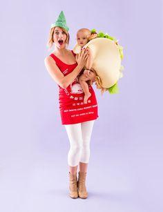 Turn your mini into a teeny tiny taco for Halloween.