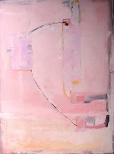 Original acrylic fine art painting abstract art pink painting 36 x 48 by Cheryl Wasilow