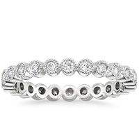 Luxe Solstice Eternity Diamond Ring in Platinum Would look perfect with my brilliant earth set