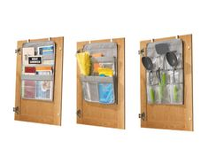 Over-the-Cabinet Organizers - Set of 3 Such a great idea for using your cabinet doors for organizing too!