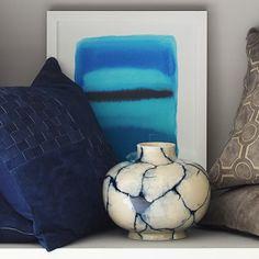 Marbleized Ceramic Vessel from Williams-Sonoma