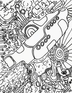 Yellow submarine coloring pages - Coloring Pages & Pictures - IMAGIXS