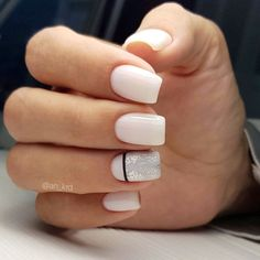 30 Outstanding Classy Nails Ideas For Your Ravishing Look - Society Girls 25 Accent Nail Designs, Elegant Nail Designs, Cool Nail Designs, Classy Nails, Trendy Nails, Cute Nails, Purple Nails, Glitter Nails, Yellow Nails