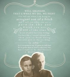 Whether you ship Dramione or not i thought this was cute. The Notebook/Dramione