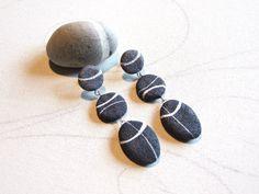 Orecchini pietre di fiume Orecchini Sassi di di Sognoametista, €20.00