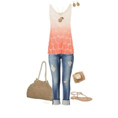 Festival by tmlstyle on Polyvore featuring Cameo Rose, Hudson Jeans, Chinese Laundry, Scoop, Sara Designs, Lauren Ralph Lauren and Stella & Dot