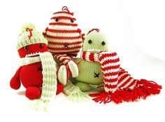 Christmas monsters to knit