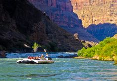 Grand Canyon river rafting scene