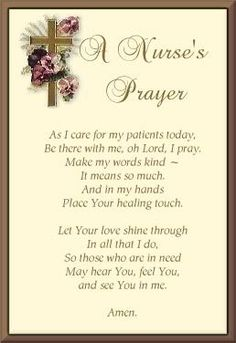 A Nurse's Prayer. Great nursing students and current nurses. Nursing Board, Nursing Pins, Nursing Career, Nursing Notes, Nicu Nursing, Nurses Prayer, Vintage Nurse, Nurse Quotes, Nurses Week