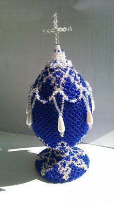 """Пасхальное яйцо """"Королевский подарок 2""""   biser.info - всё о бисере и бисерном творчестве"""