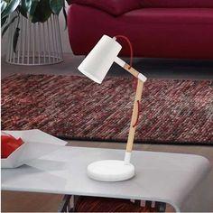 Επιτραπέζιο φωτιστικό - πορτατίφ - λαμπατέρ γραφείου, σε μοντέρνο στυλ, με σώμα από ξύλο σε φυσική απόχρωση και ατσάλι. Σειρά Torona της Eglo. Διατίθεται σε λευκό με κόκκινο καλώδιο και μαύρο με ασπρόμαυρο καλώδιο. -------------------------------Table lamp - desk lamp, modern style, body with natural hue and steel. Available in white with red cable and black, and black with black and white cable. #desk #deskgoals #desklamp #desklight #tablelamp #tabledecor #lighting #reading #modern… Desk Lamp, Table Lamp, Modern, Home Decor, Bedroom, Wood Steel, Different Types Of, Yurts, Light Fixture