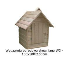 Wędzarnia drewniana W3 - 100x100x150cm z tekstem