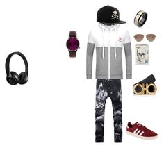 """"""":3"""" by tyty-852 ❤ liked on Polyvore featuring adidas Originals, Alexander McQueen, Philipp Plein, Salvatore Ferragamo, TOMS, West Coast Jewelry, Topman and Beats by Dr. Dre"""