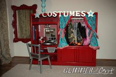 Cutest DIY dress-up station I have found yet! And it has a vanity! made by Glimmer & Grit