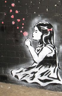 I'm sure i've seen a similar image with a girl holding a spray can to do some graffiti but hearts come out,can't find it:(