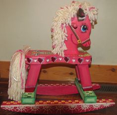 Meet Razzles-- A  Dream Hand Painted  Rocking Horse