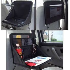 ways to organize your car.  Make something like this.