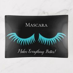 Mascara Makes It Better Bridal Party Trinket Tray - chic design idea diy elegant beautiful stylish modern exclusive trendy