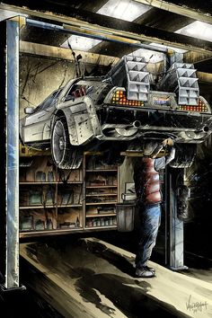 "Back to the Future - JP Valderrama - ""Maintenance"" ---- Art featured in Gallery1988 presents ""Crazy 4 Cult Back in LA"" Art Show (2014-12)"