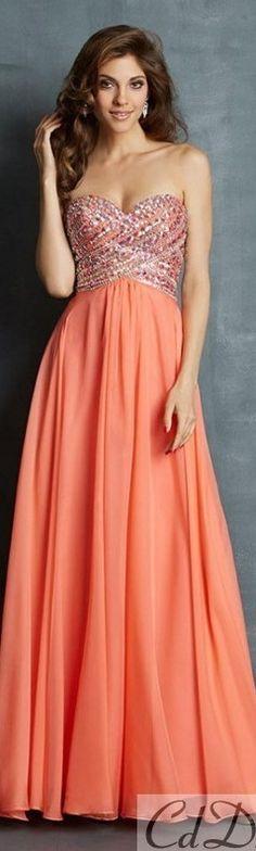 Beautiful coral prom dress
