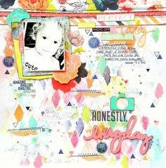 Creative Scrappers DT Project - Sketch #281 - Heidi Swapp September Skies collection.
