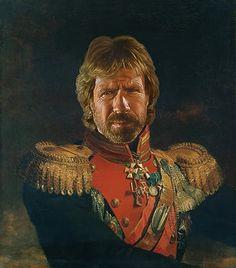 Área Visual - Blog de Arte y Diseño: Steve Payne. Retratos de celebrities convertidos en generales rusos