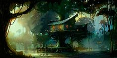 tree houses concept art - Google Search