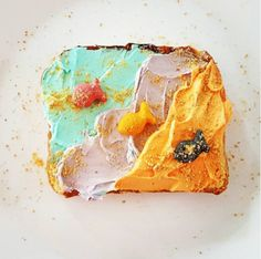 Sprinkling some munch-worthy goldfish on your Mermaid Toast definitely makes it a kid-friendly treat.