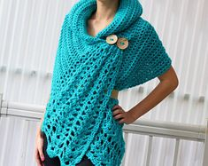 Crochet pattern, Women crochet pattern, Crochet wrap pattern, Patron de crochet, Shali Crochet Wrap PDF, Crochet Poncho PDF, Crochet Scarf