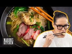 Marion's Kitchen is packed with simple and delicious Asian recipes and food ideas. Pork Noodle Soup, Wonton Noodle Soup, Wonton Noodles, Pork Noodles, Pork Recipes, Asian Recipes, Ethnic Recipes, Vegetarian Recipes, Chinese Recipes
