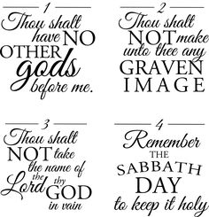 10 Commandments printables