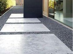 betontegels en grind