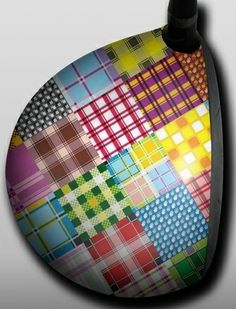 Personalized Golf Driver Skin - Designer - Quilt by Big Wigz Skins.  Buy it @ ReadyGolf.com