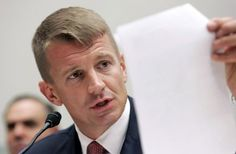 Blackwater Chief Executive Erik Prince testifies before the House Oversight and Government Reform Committee on security contracting in Iraq and Afghanistan on Capitol Hill in Washington
