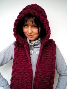 Scoodie=scarf w/hoodie