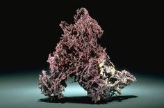 Cuprite with copper (B7541) from the National Mineral Collection