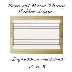 Music Staff Rubber Stamp