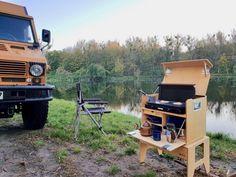 Camping Chuck Box, Camping Box, Camping Gear, Camping Canopy, Glamping, Camp Kitchen Box, Open Plan Kitchen Dining Living, Camper Hacks, Camper Storage