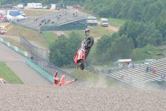 German MotoGP: PICS: Dovizioso sends new Ducati flying