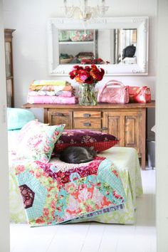 colorful shabby chic