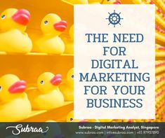 Digital Marketing helps to interact with your customers in real time. Looking for a Digital Marketing Services for your business, contact Subraa at 97957890 Digital Marketing Business, Digital Marketing Services, Web Design, Logo Design, Rubber Duck, Singapore, Business Contact, Design Web, Website Designs