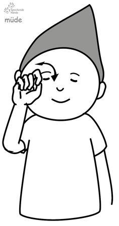 müde Kindergebärden Babyzeichen Babyzeichensprache Babygebärden Gebärdensprache GuK