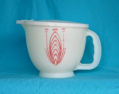 Image detail for -Vintage Tupperware Mix N Stor Pitcher 8 cups by FunkyJunkyVintage