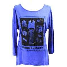 Camiseta Jocavi informal azul en www.clfashionable.com